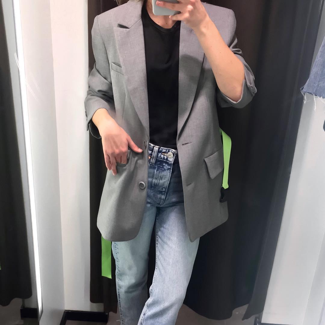 veste oversize avec ceinture de Zara sur thejldc