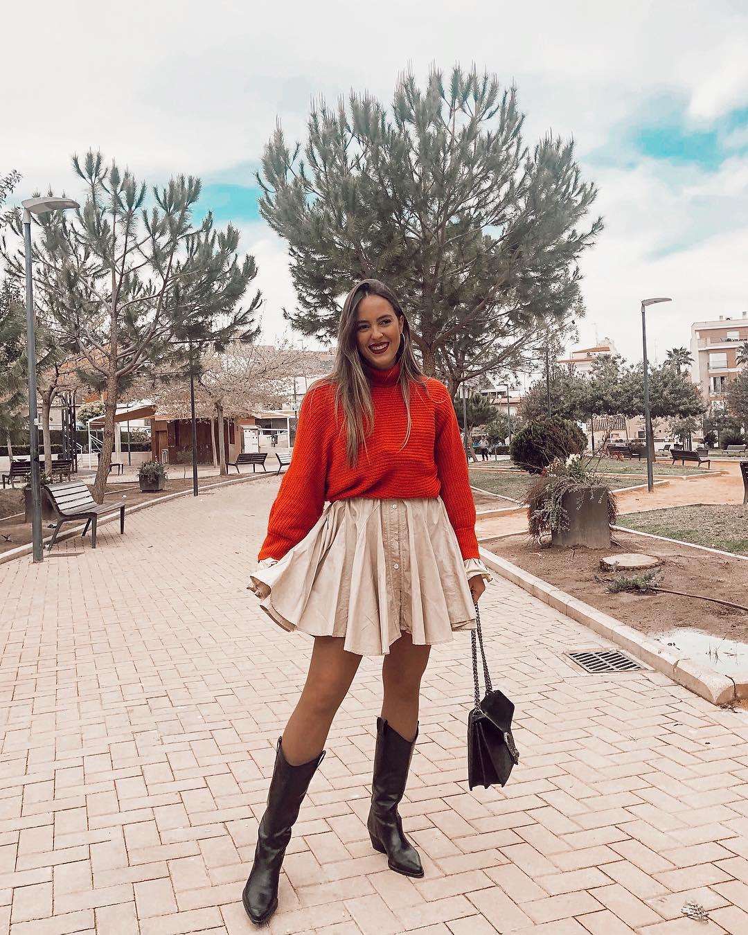 leather boots with cowboy heels de zara sur anasaez___