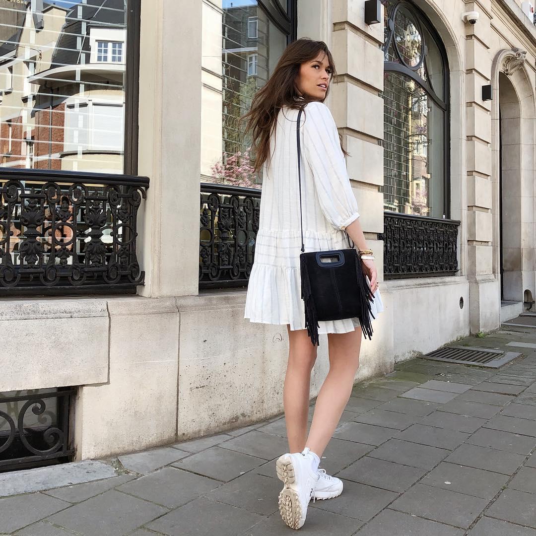 robe à rayures et volant de Zara sur alisontoby