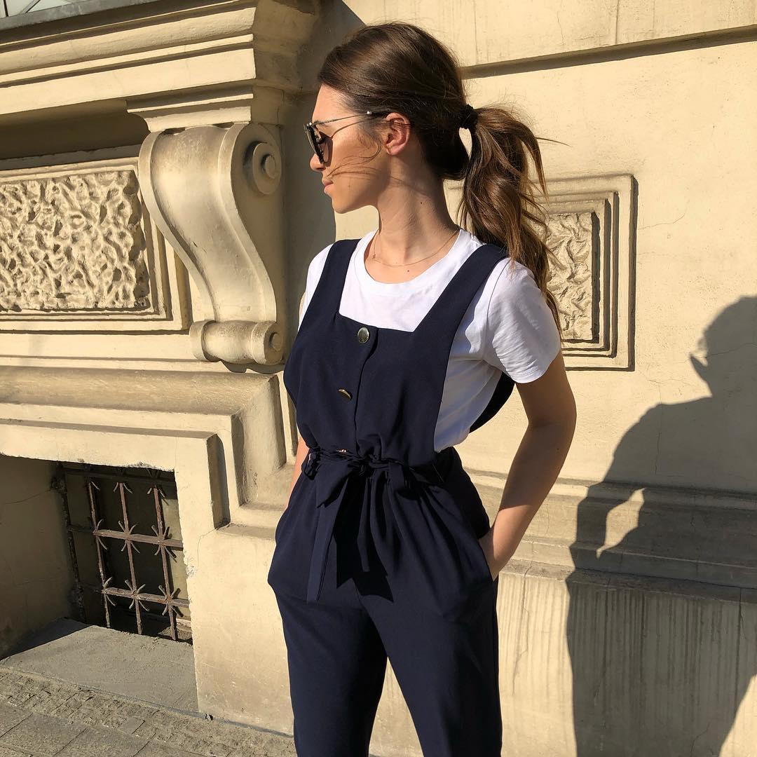 belt jumpsuit de Zara sur spodenkimoje