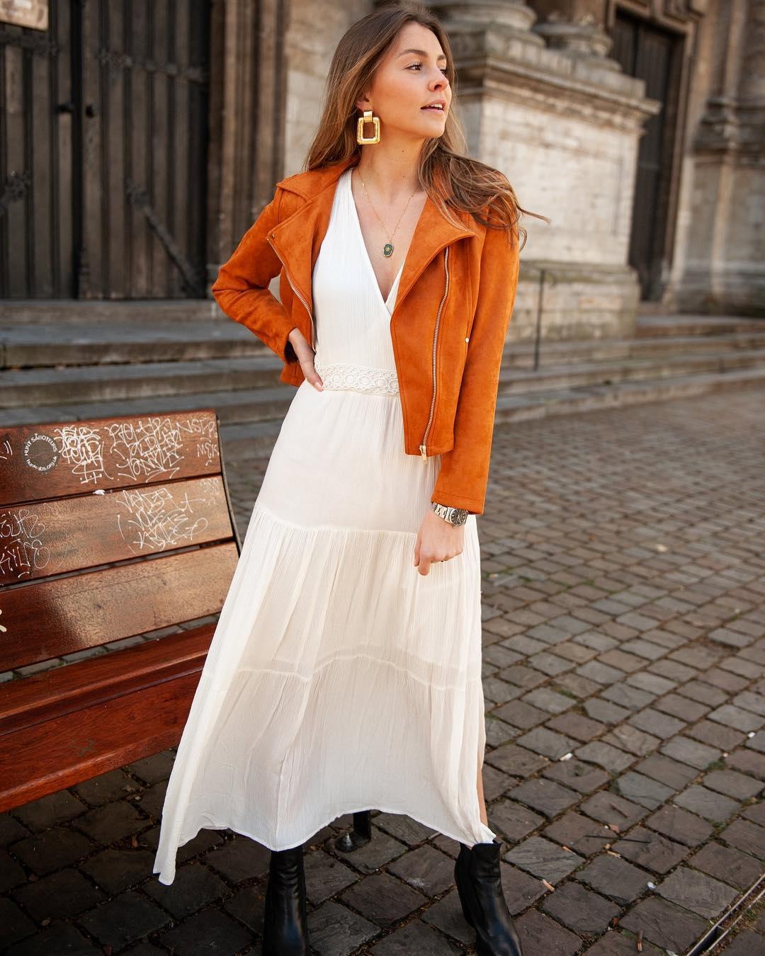 longue robe ecrue de Les Bourgeoises sur scanlesbourgeoises