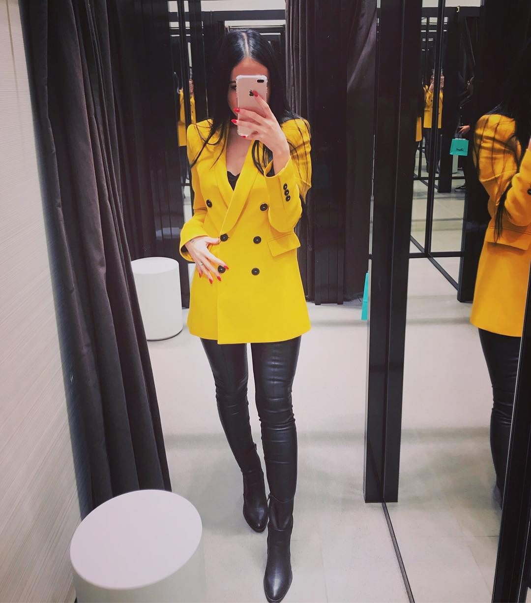 veste à boutonnage croisé de Zara sur schzara