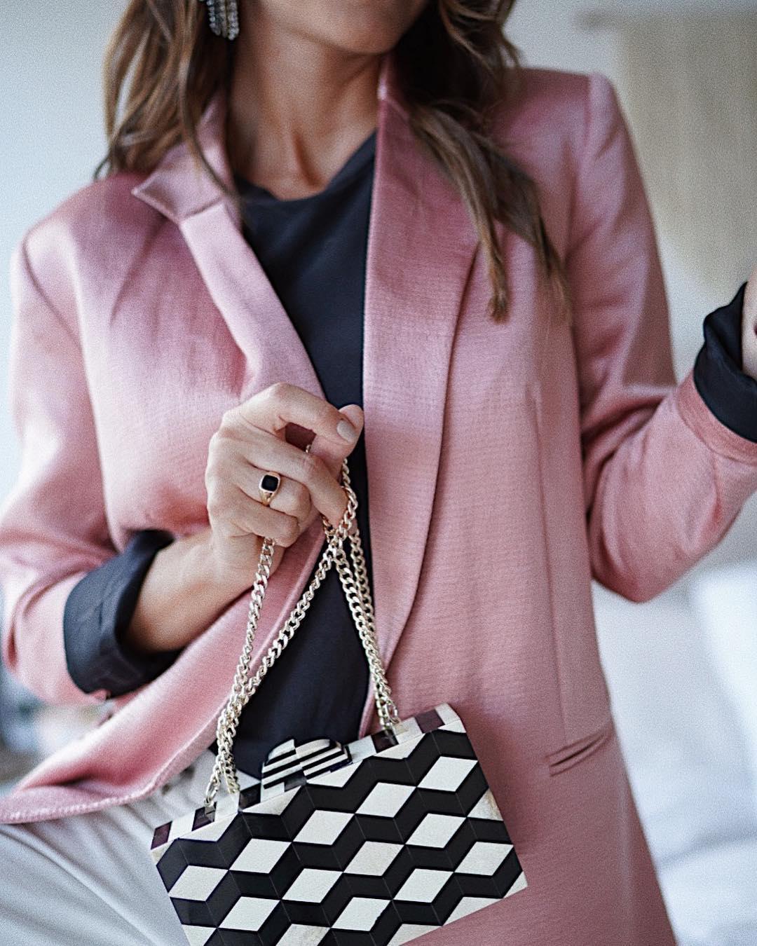 sac à main bicolore de Zara sur looknatamelie
