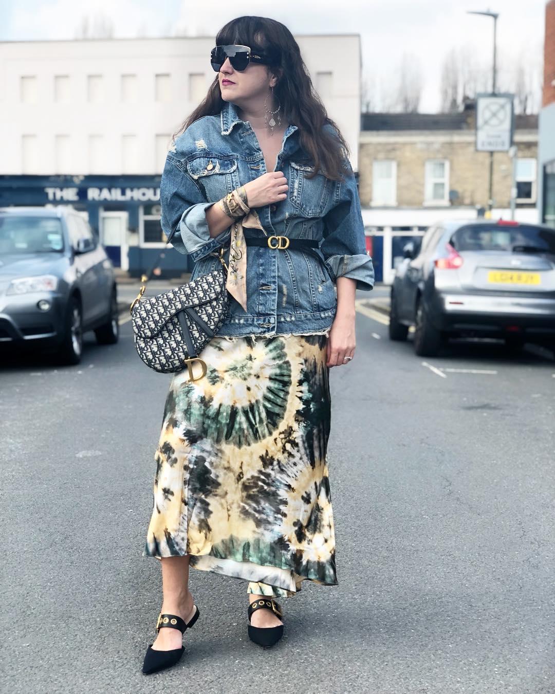 tie dye print skirt de Zara sur katz_london