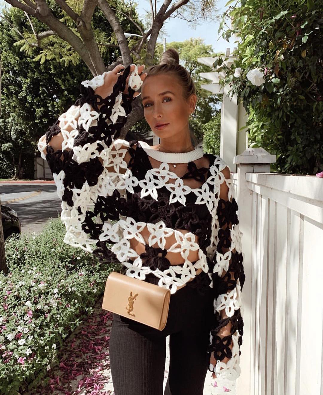 limited edition floral crochet sweater de Zara sur zarastreetstyle