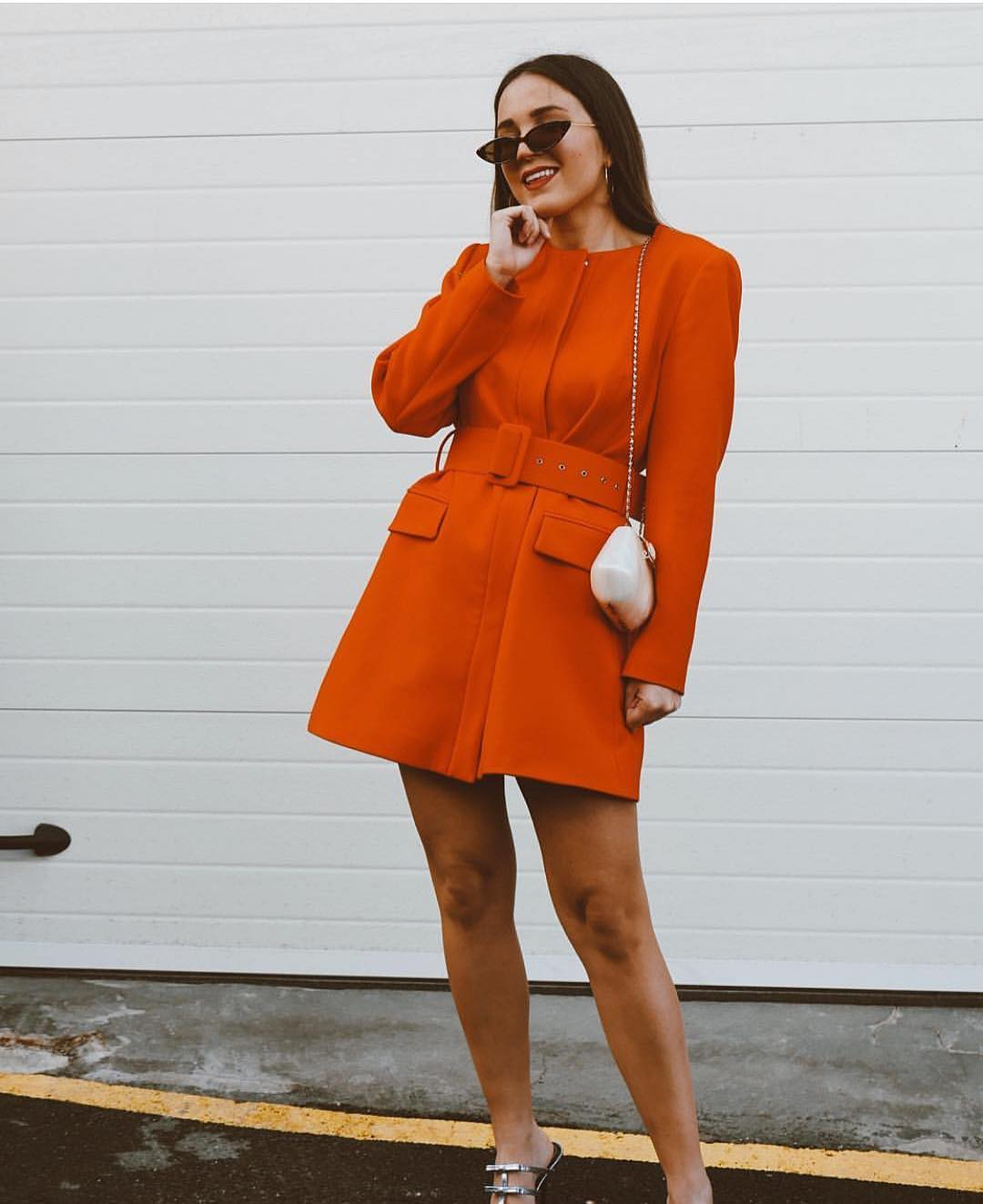 veste longue à ceinture de Zara sur zara.outfits