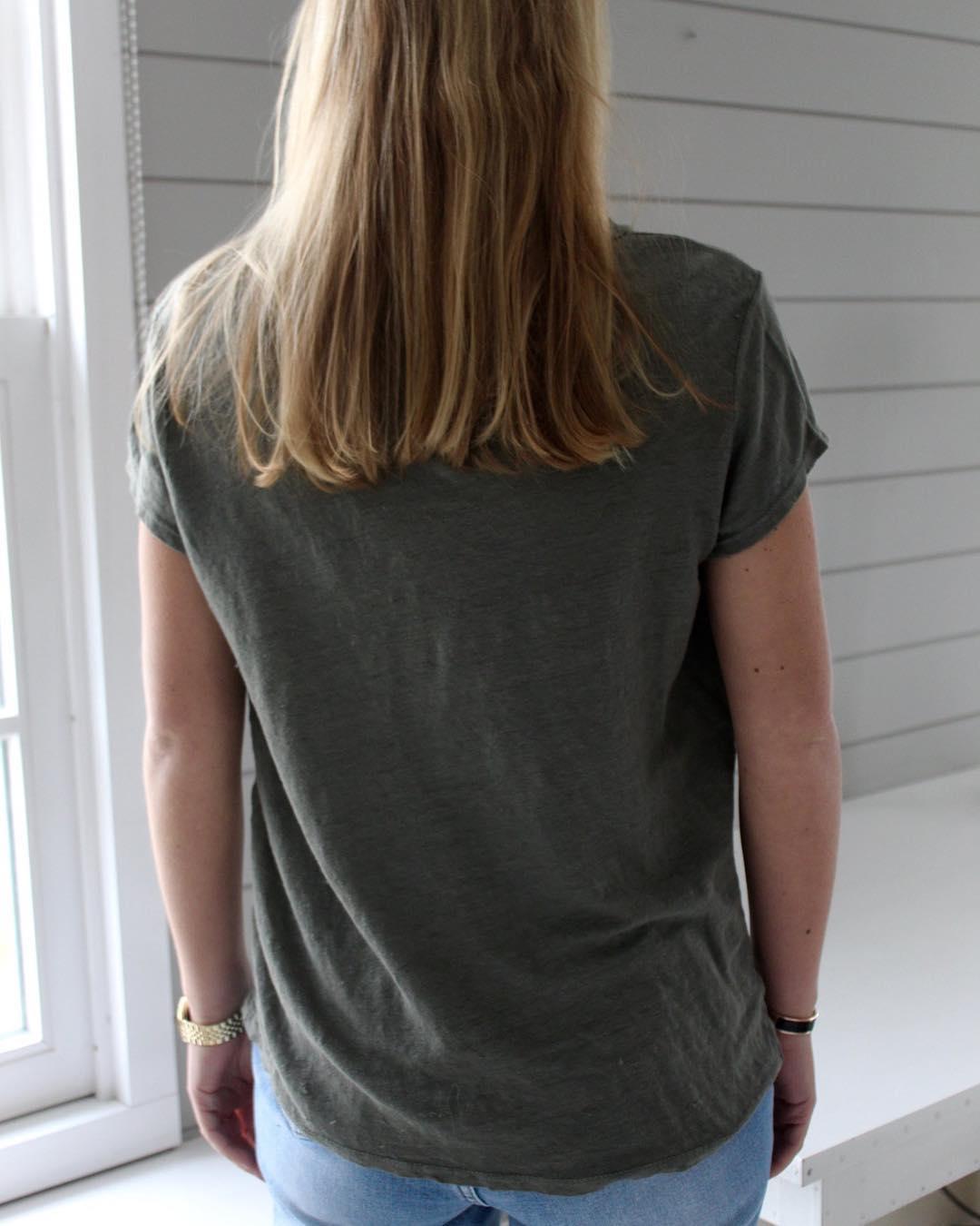 t-shirt kaki lin de Les Bourgeoises sur scanlesbourgeoises