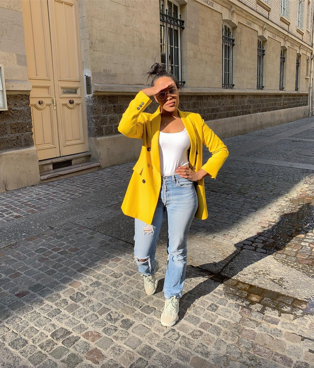 crossover breasted jacket de Zara sur frayze_