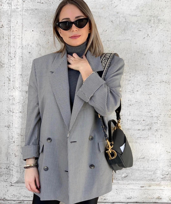 plaid jacket de Zara sur zaraaddiction
