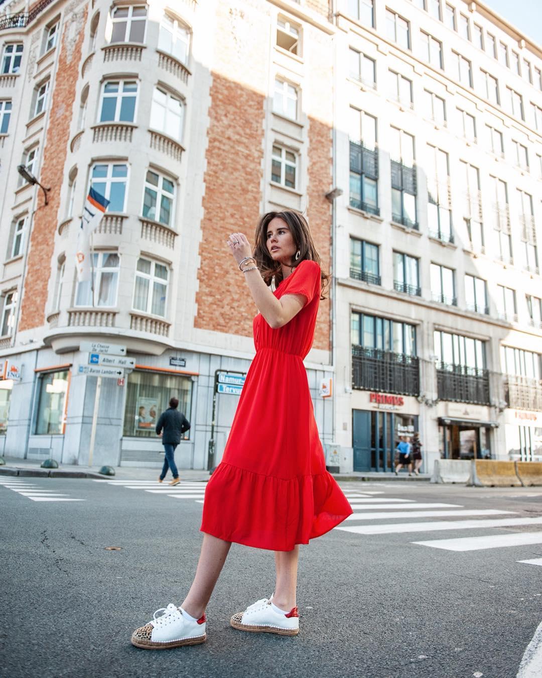 robe rouge 7/8 de Les Bourgeoises sur lesbourgeoisesofficiel
