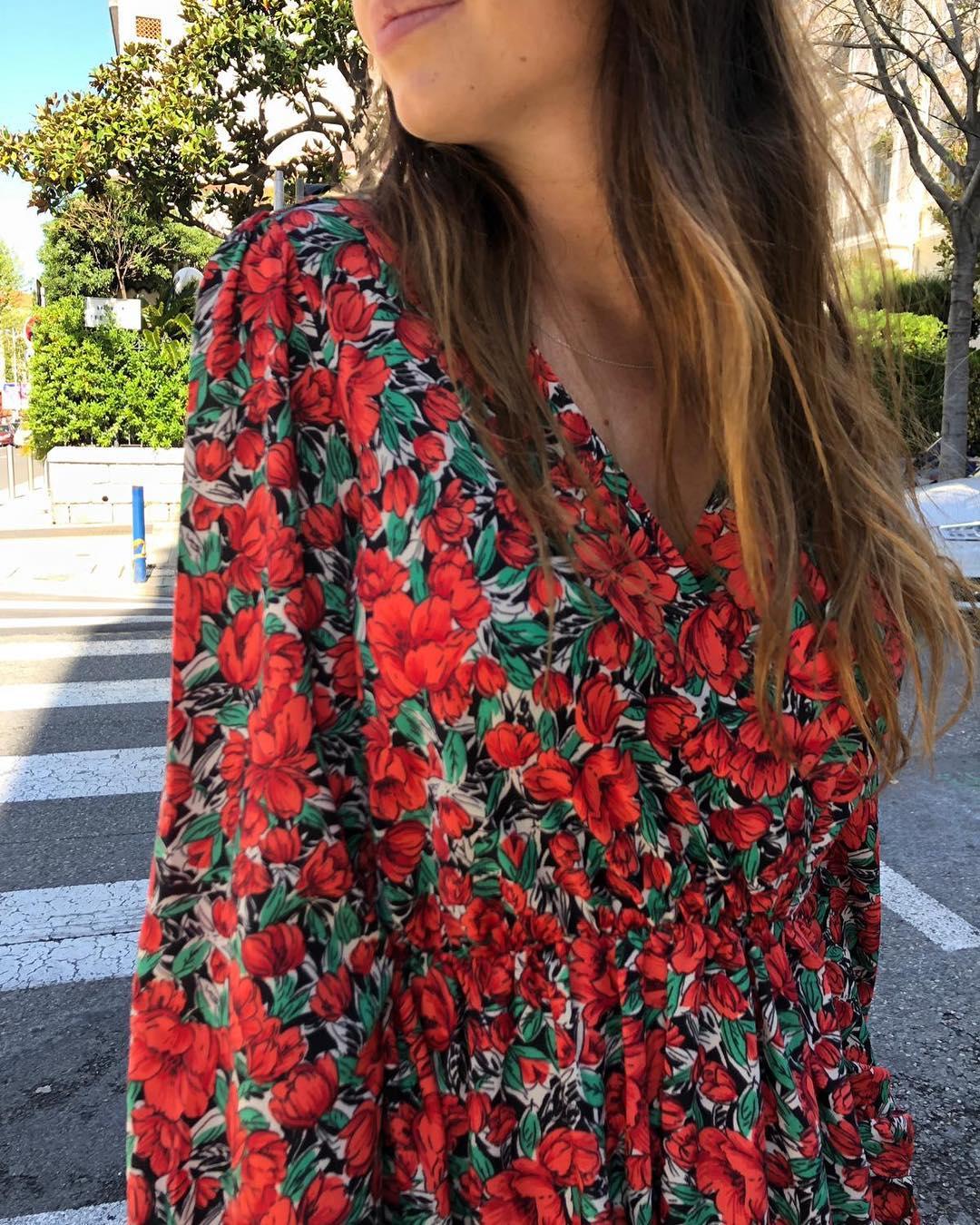 robe rouge a fleurs de Les Bourgeoises sur urbandressing