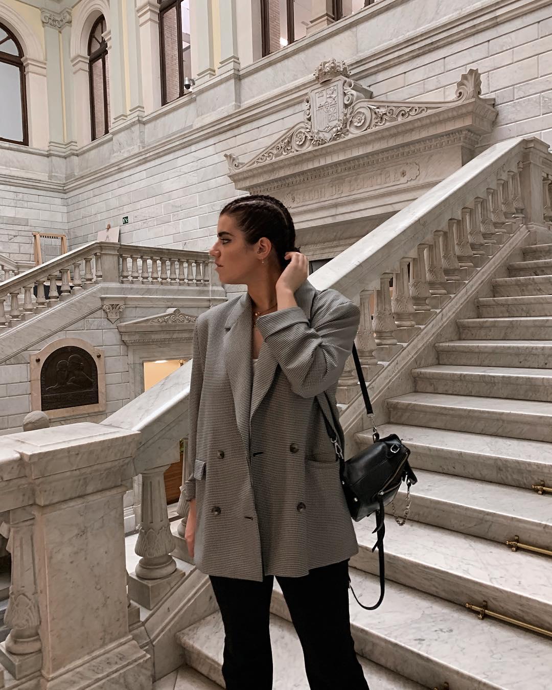 plaid jacket de Zara sur carolinabrunelli_