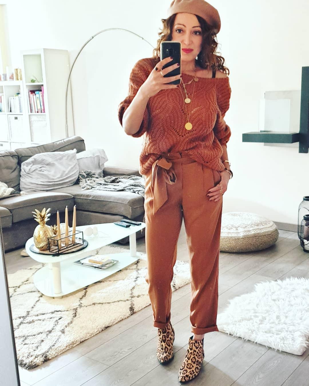 pantalon caramel de Les Bourgeoises sur bribast_