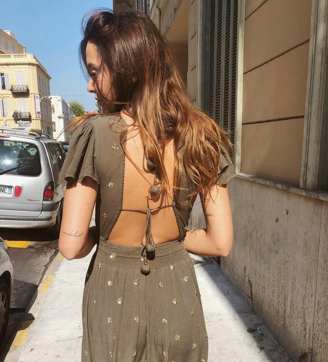 robe ecrue sequins dores de Les Bourgeoises sur urbandressing