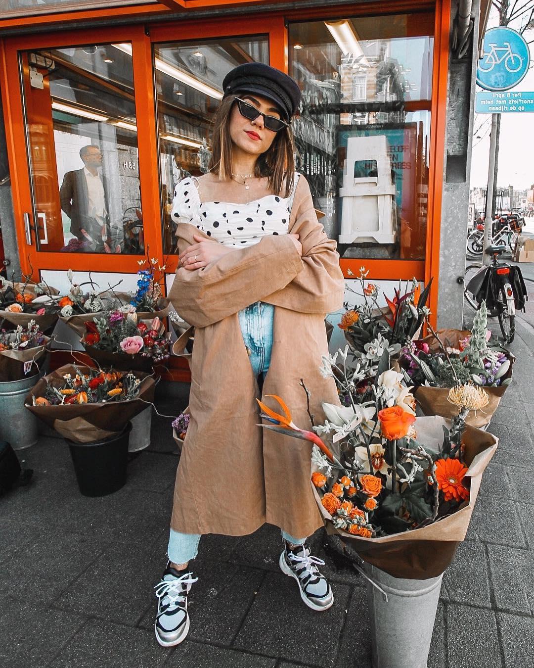 polka dot cropped top de Zara sur amparocamo