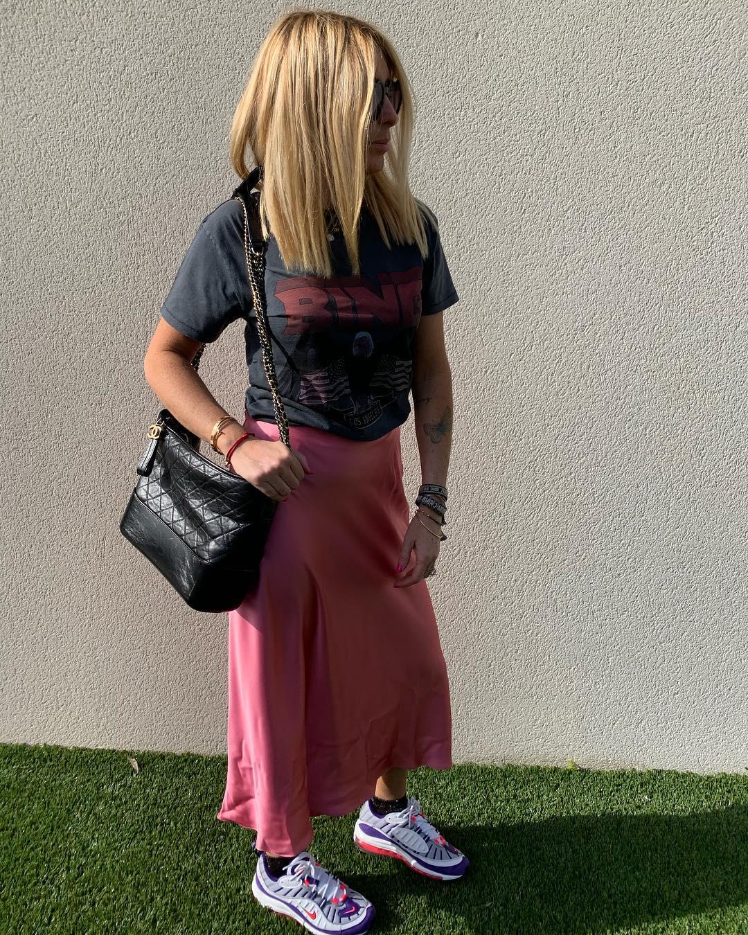 satin skirt de Zara sur edenetchacha