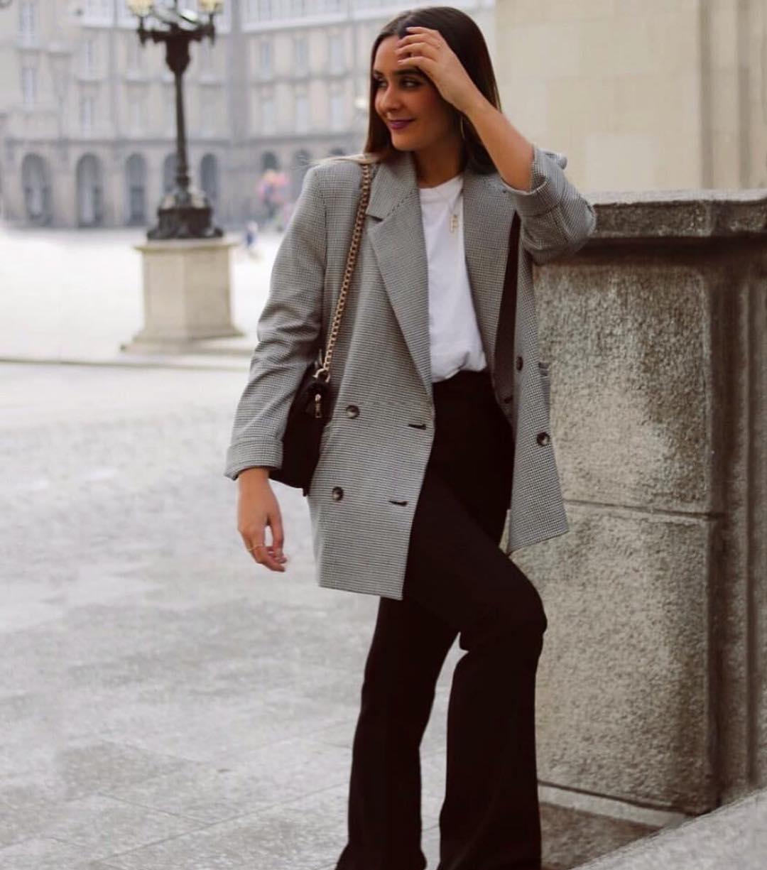 plaid jacket de Zara sur zarainfluence