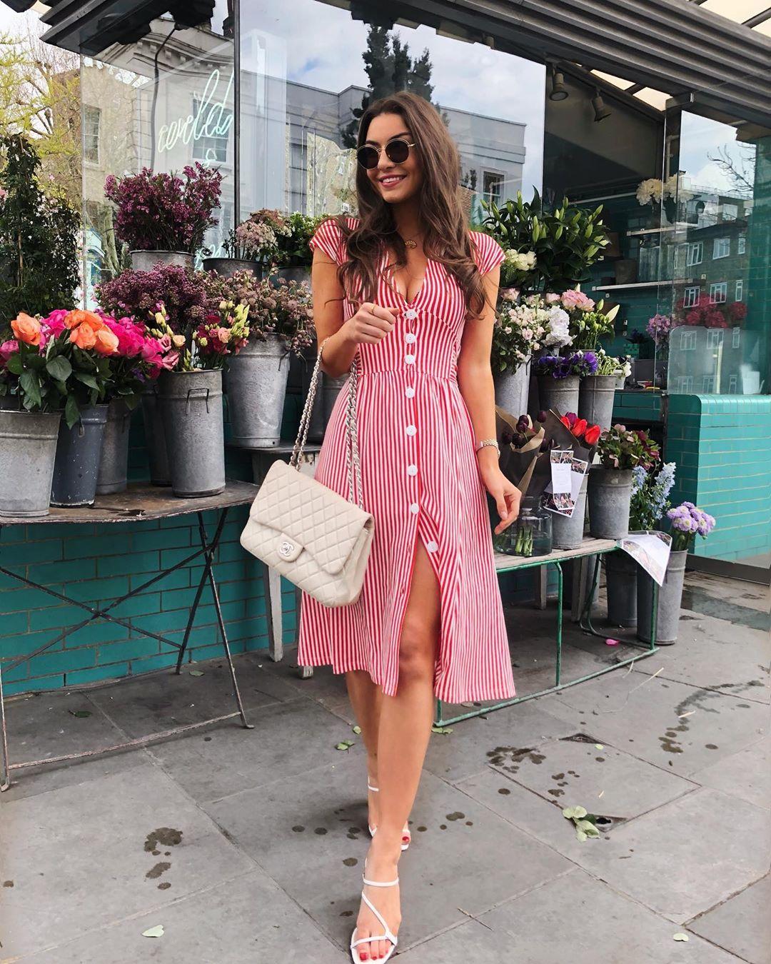 robe à rayures de Zara sur sophielouisesdiary