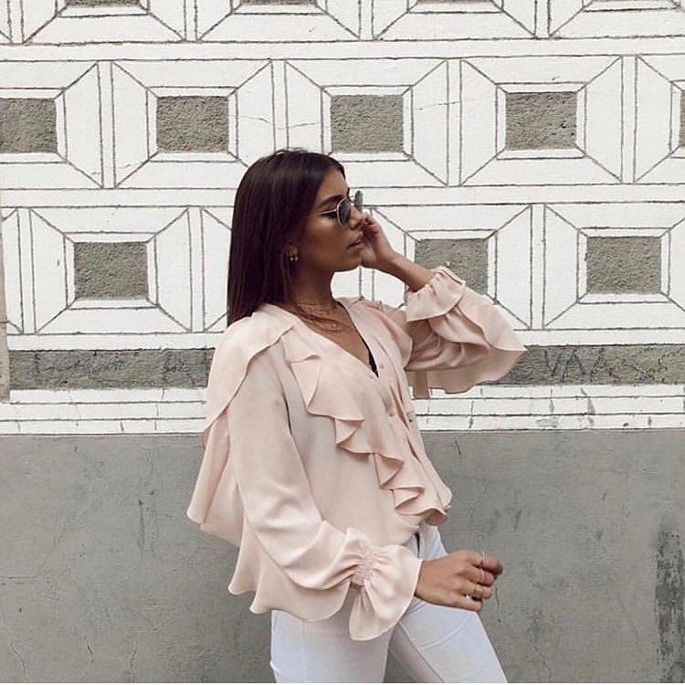 rustic shirt with ruffles de Zara sur look_by_zara_hm