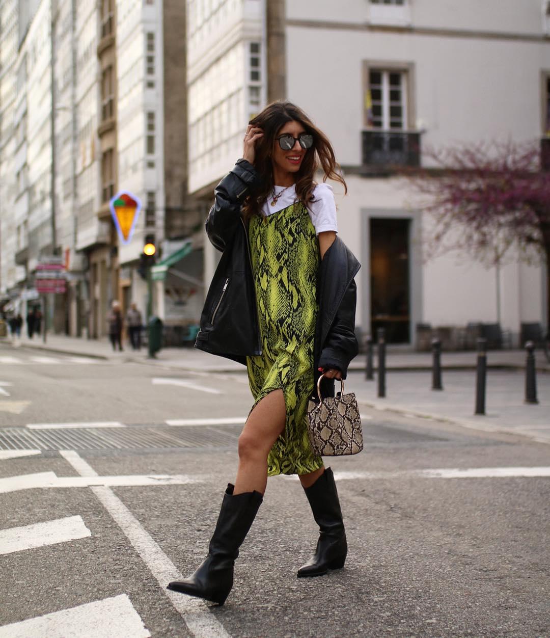 leather boots with cowboy heels de Zara sur maarttaan