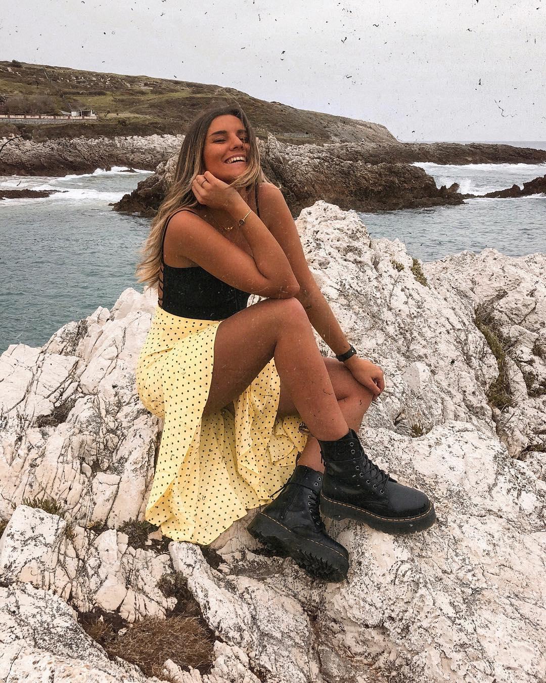 polka dot print skirt de Zara sur barbaraprzz