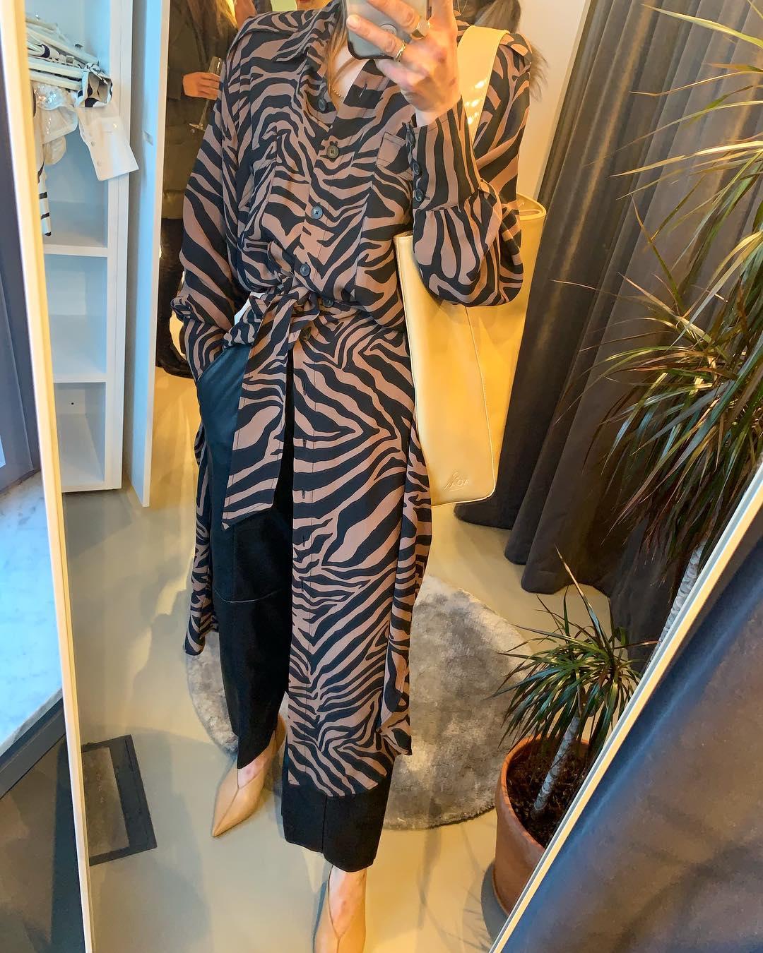 zebra print belt dress de Massimo Dutti sur annaaborisovna