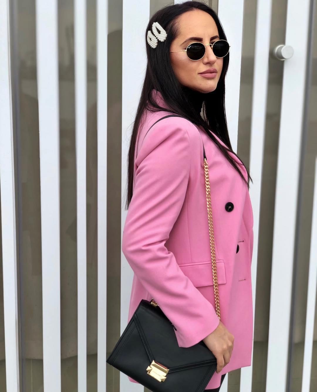 crossover breasted jacket de Zara sur nadetovi