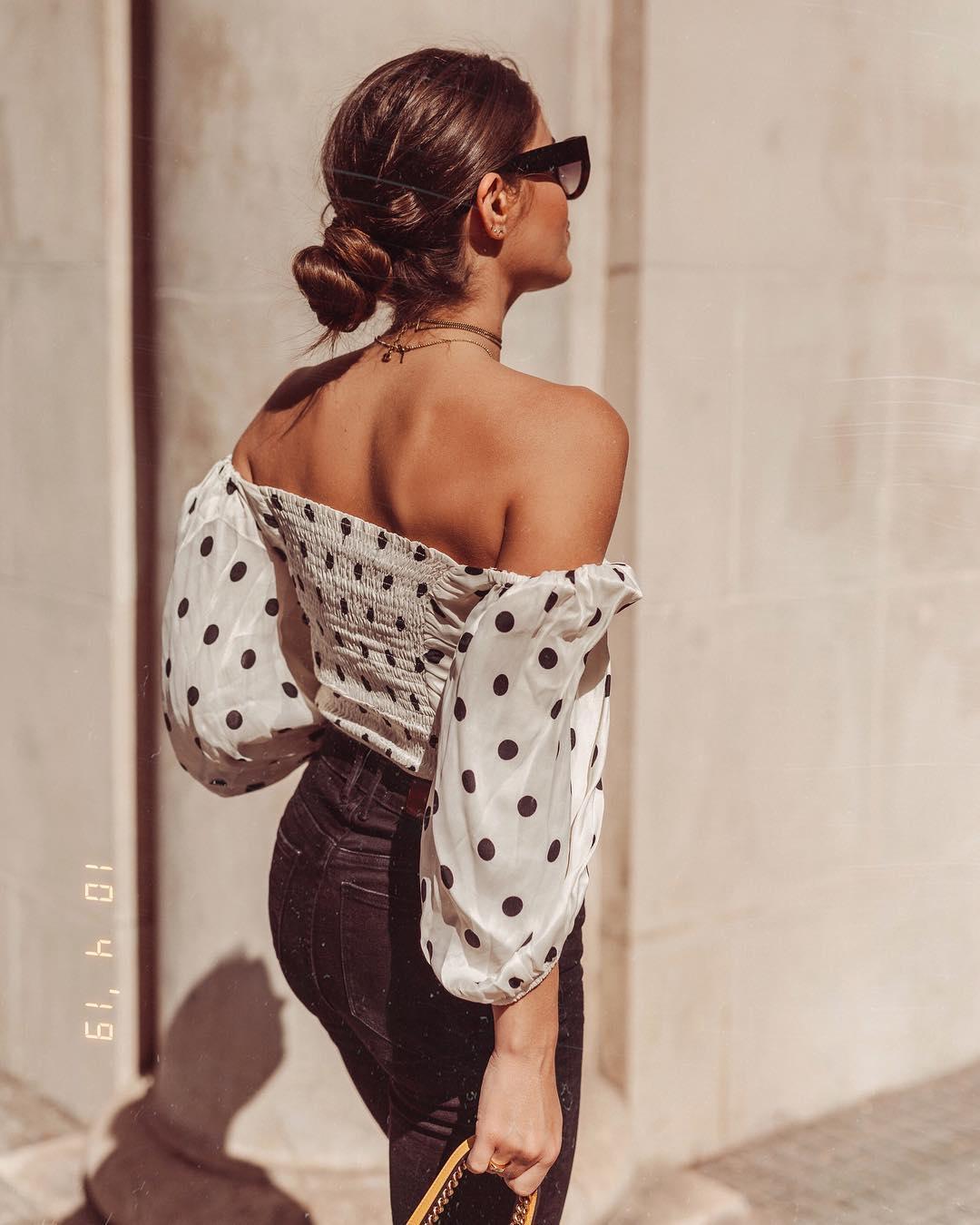 polka dot cropped top de Zara sur jessiekass