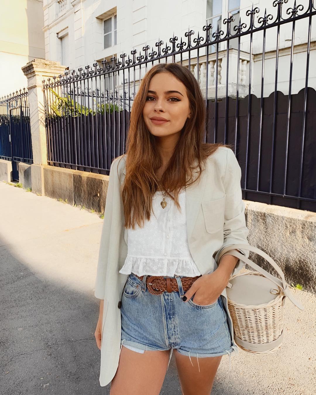 short levis 501 jeans bleu clair tirettes côtés  de Les Bourgeoises sur jodielapetitefrenchie