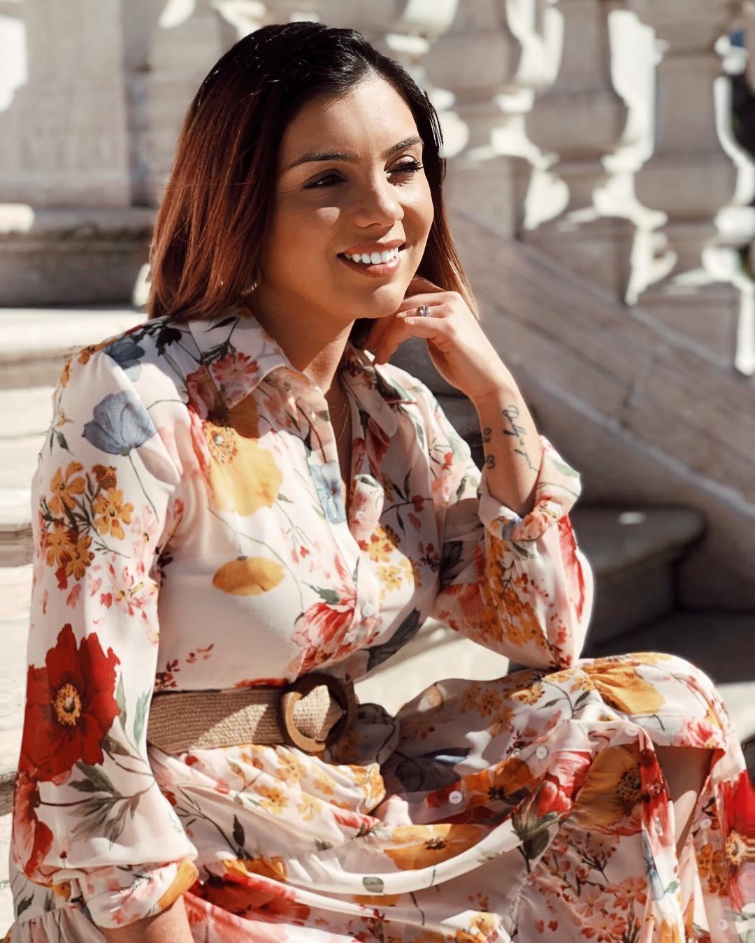 dress with floral print de Zara sur susanabatalha03