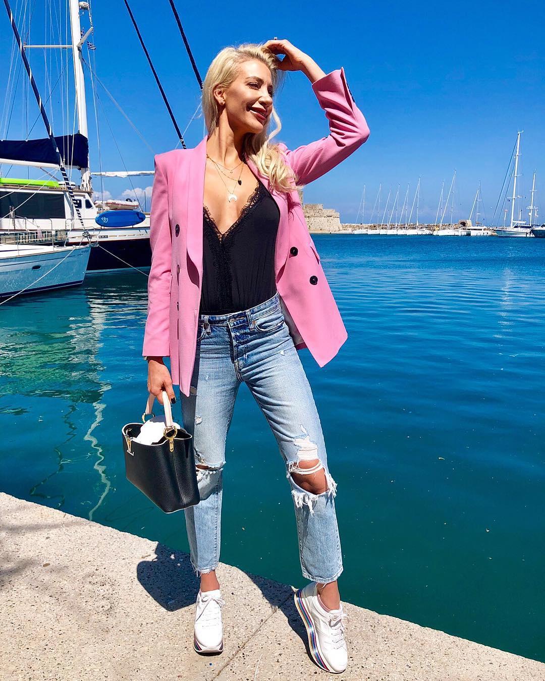 crossover breasted jacket de Zara sur laura_michail