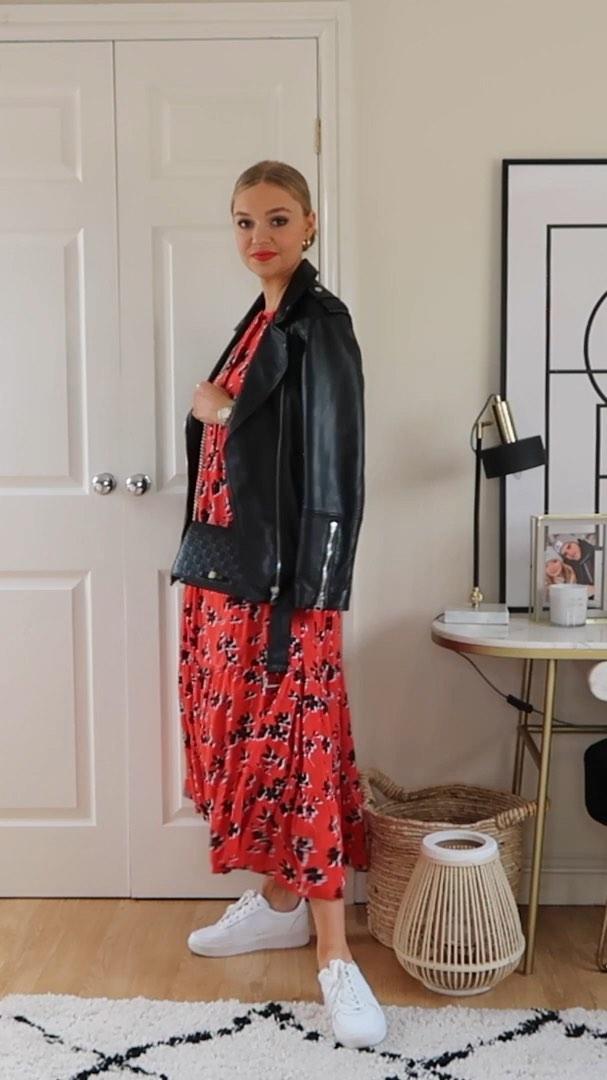 dress with floral print de Zara sur lydiajanetomlinson