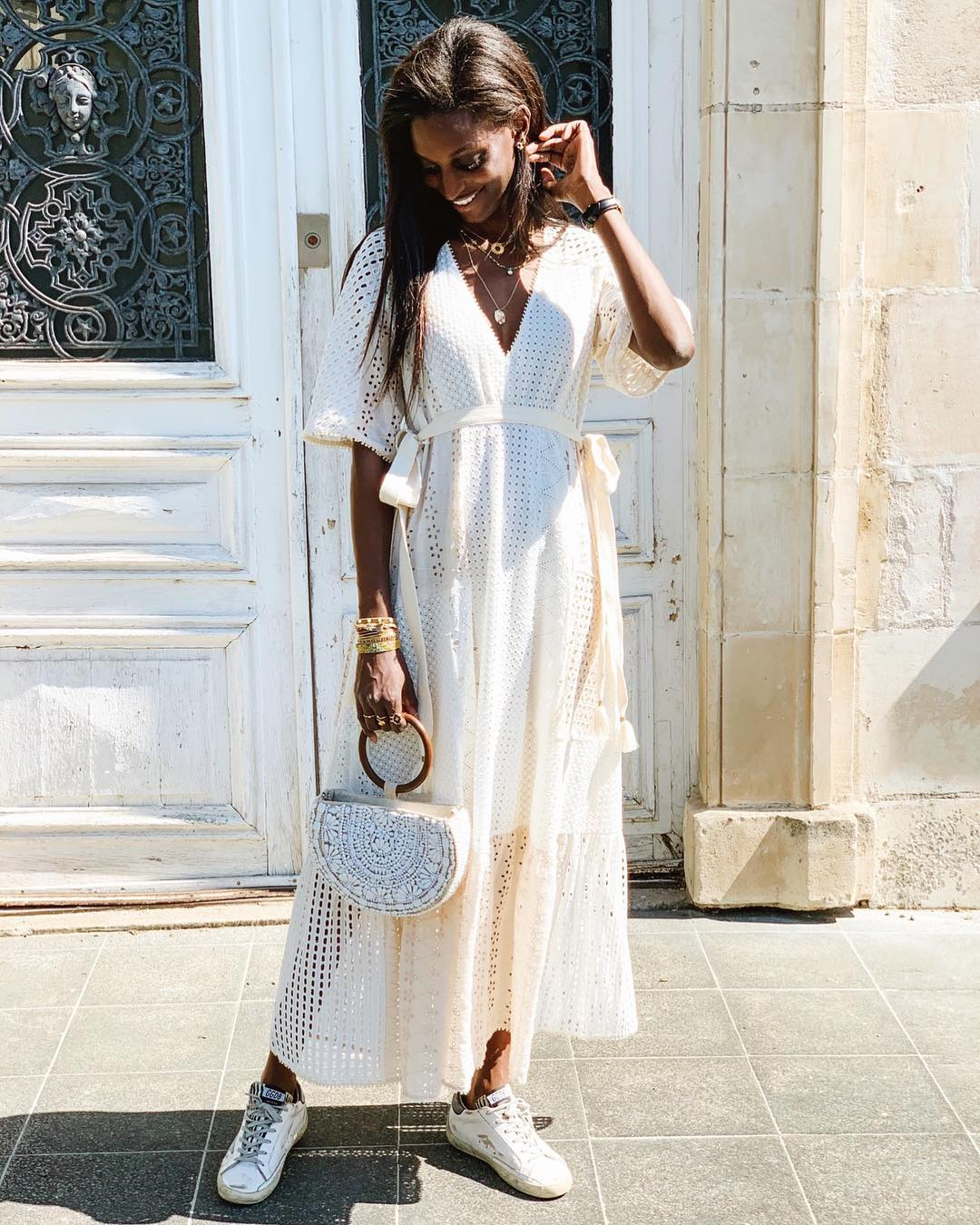 natural oval shoulder bag with glassware de Zara sur l_by_lise