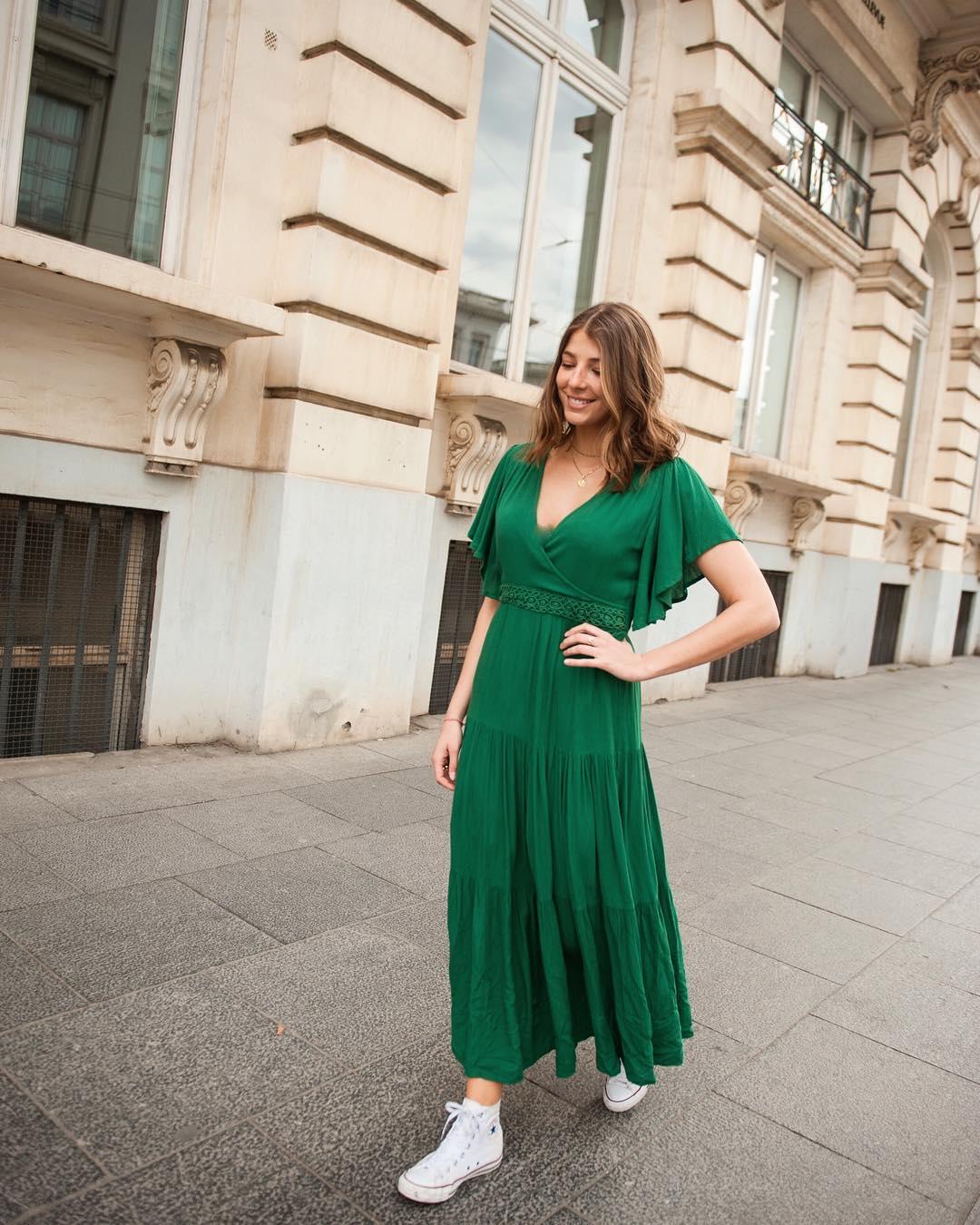 robe verte eclypse de Les Bourgeoises sur lesbourgeoisesofficiel