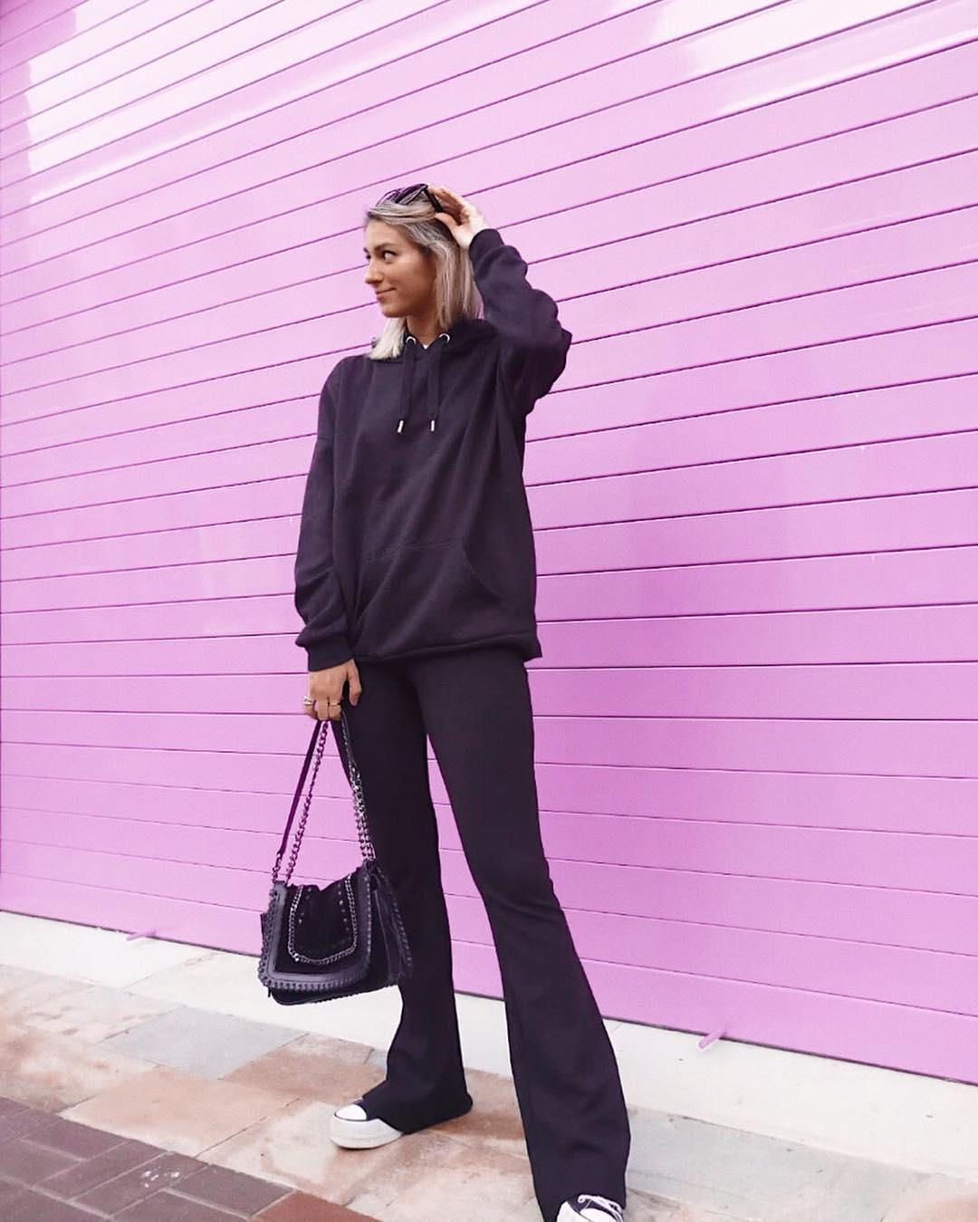 chain leather shoulder bag de Zara sur sorayagprieto