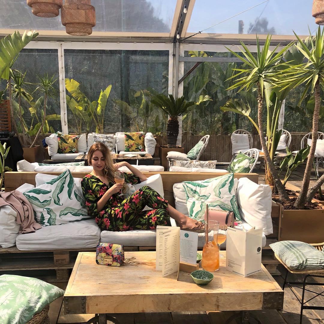 floral print jumpsuit de Zara sur missbebeelle