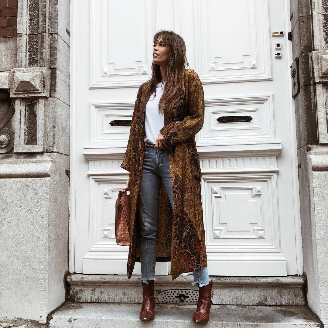 manteau long imprimé de Zara sur alisontoby