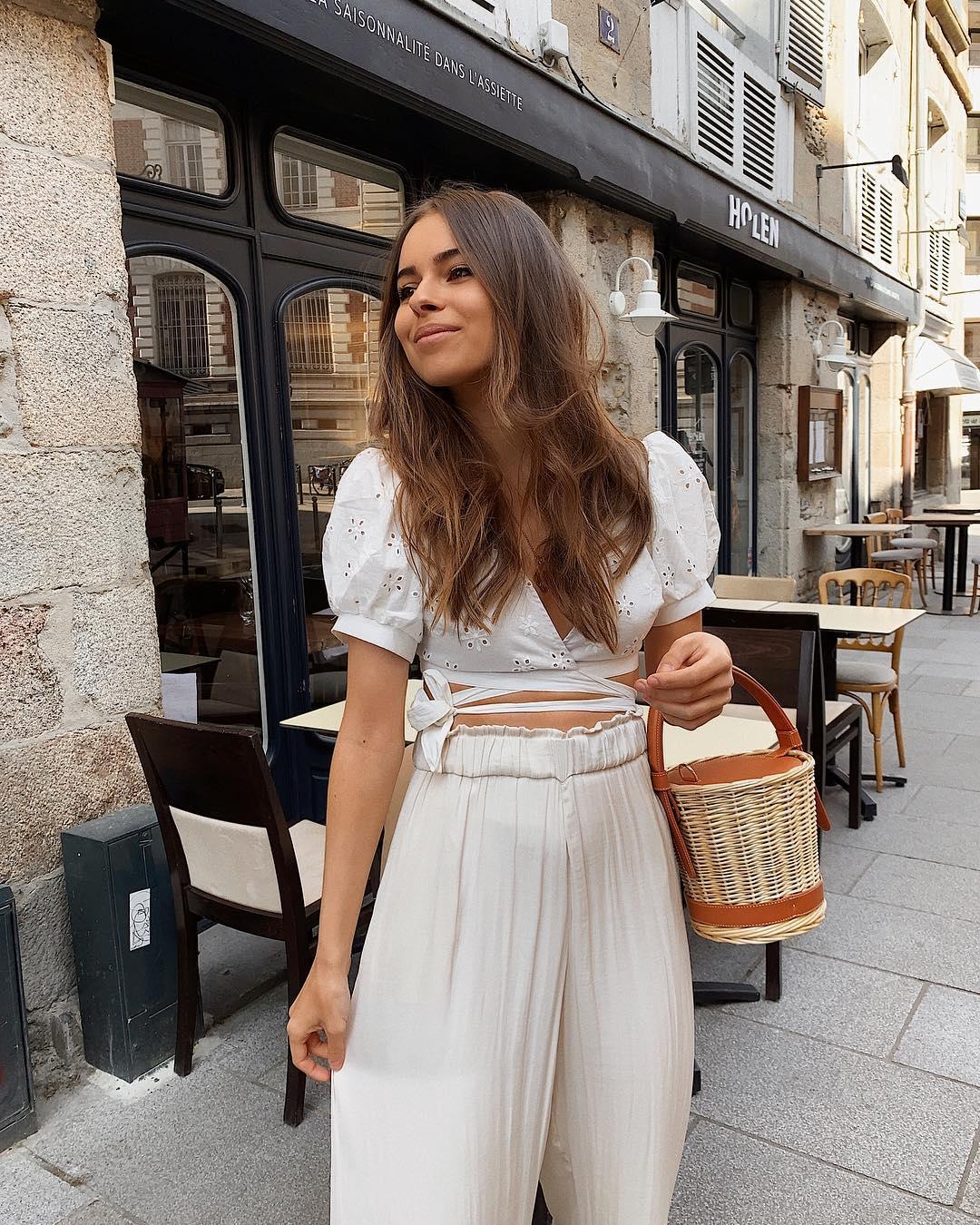 pantalon large fluide de Zara sur jodielapetitefrenchie