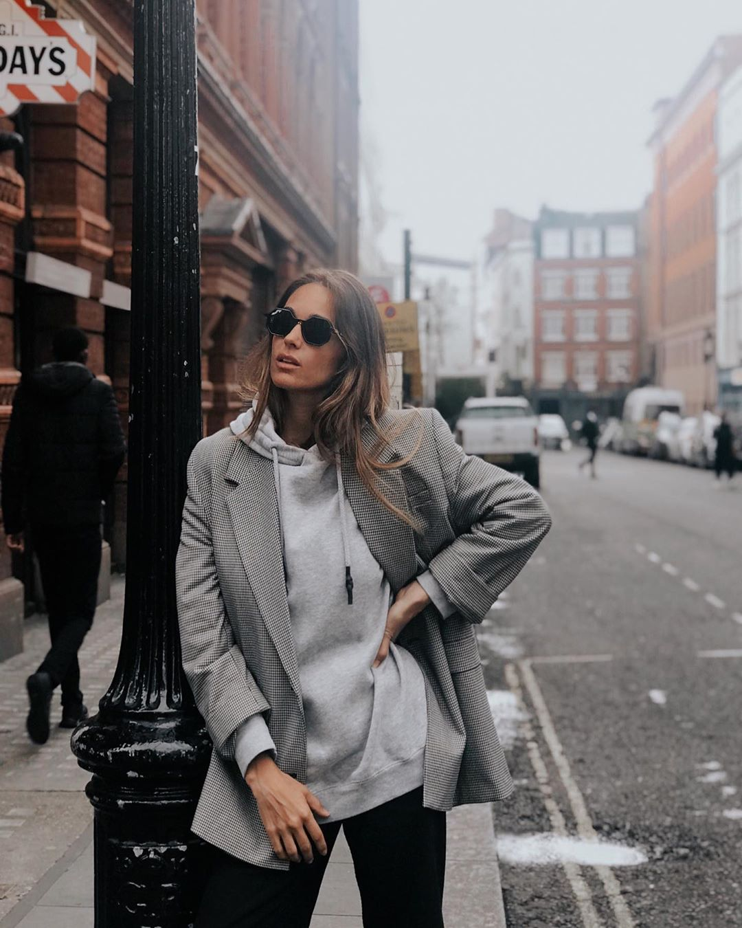 plaid jacket de Zara sur mariatilve