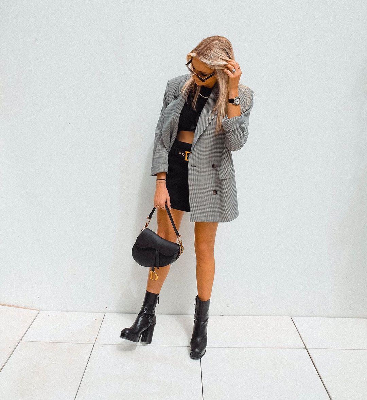 veste à carreaux de Zara sur mandisfashionworld