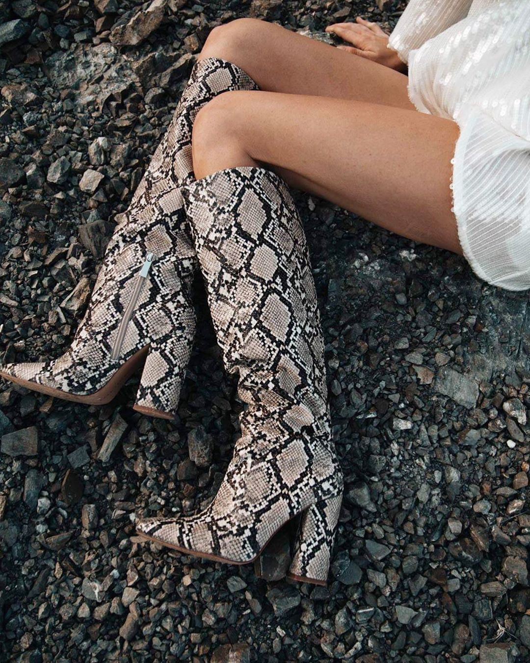 bottes à talons et imprimé animal de Zara sur mettiforssell