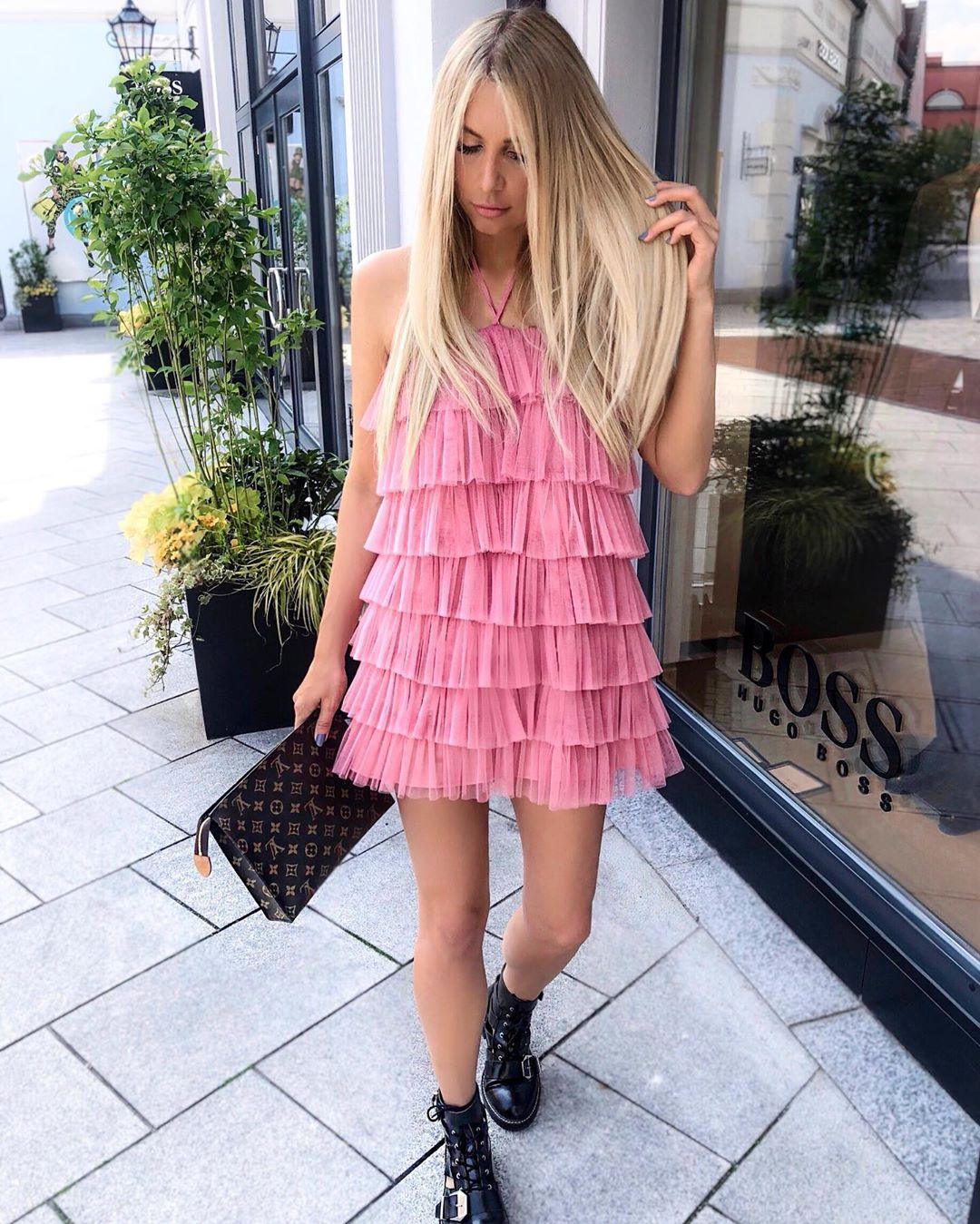 limited edition ruffled tulle dress de Zara sur annisofiagerlach