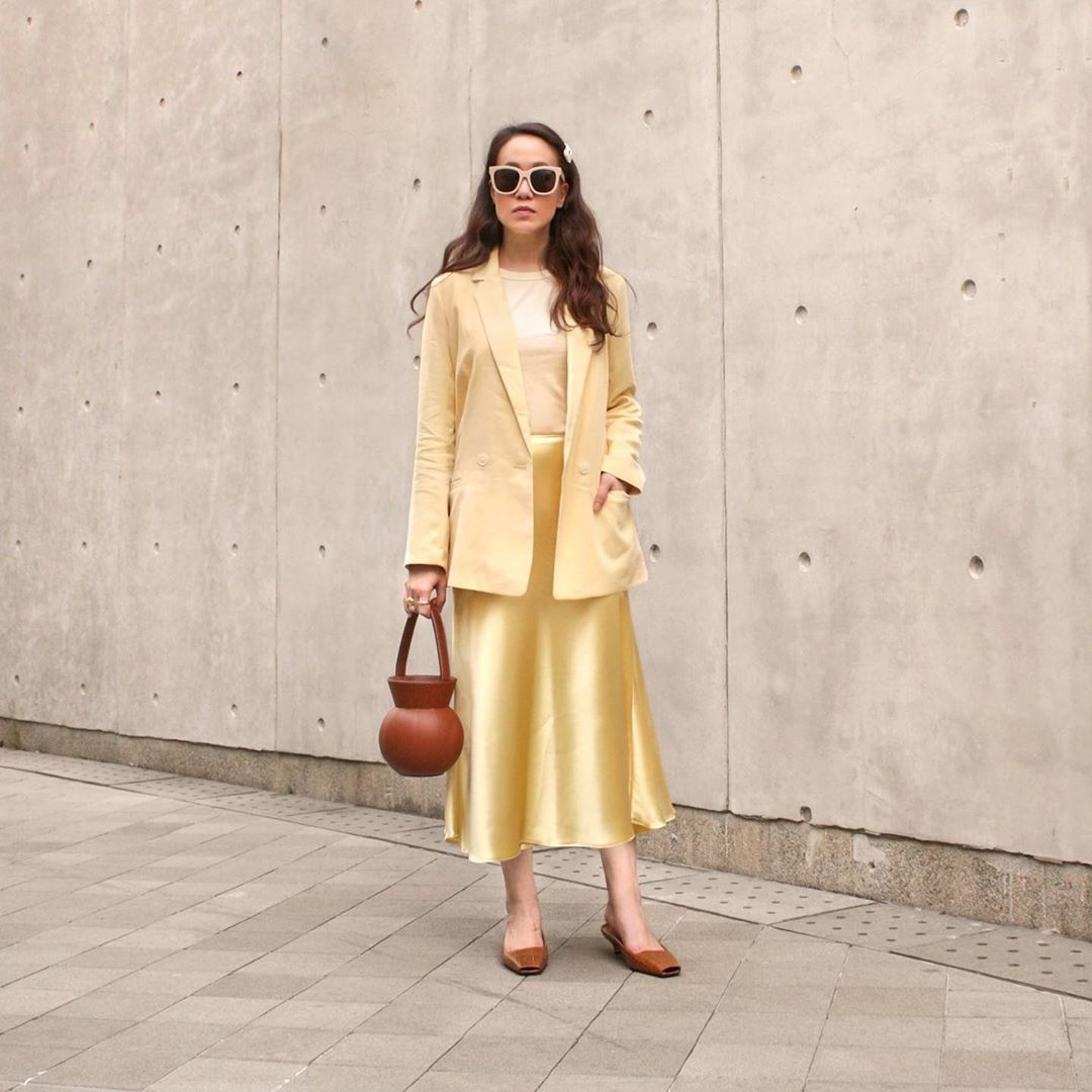 jupe satinée de Zara sur phoebesoup