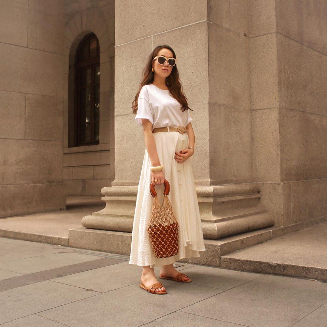 jupe rustique à ceinture de Zara sur phoebesoup