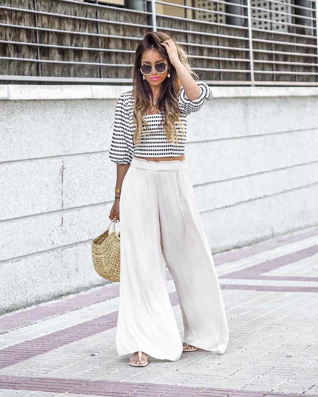 flowing wide pants de Zara sur anushkatuska