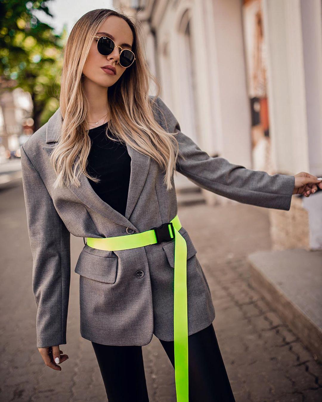 oversized jacket with belt de Zara sur oksana_orehhova