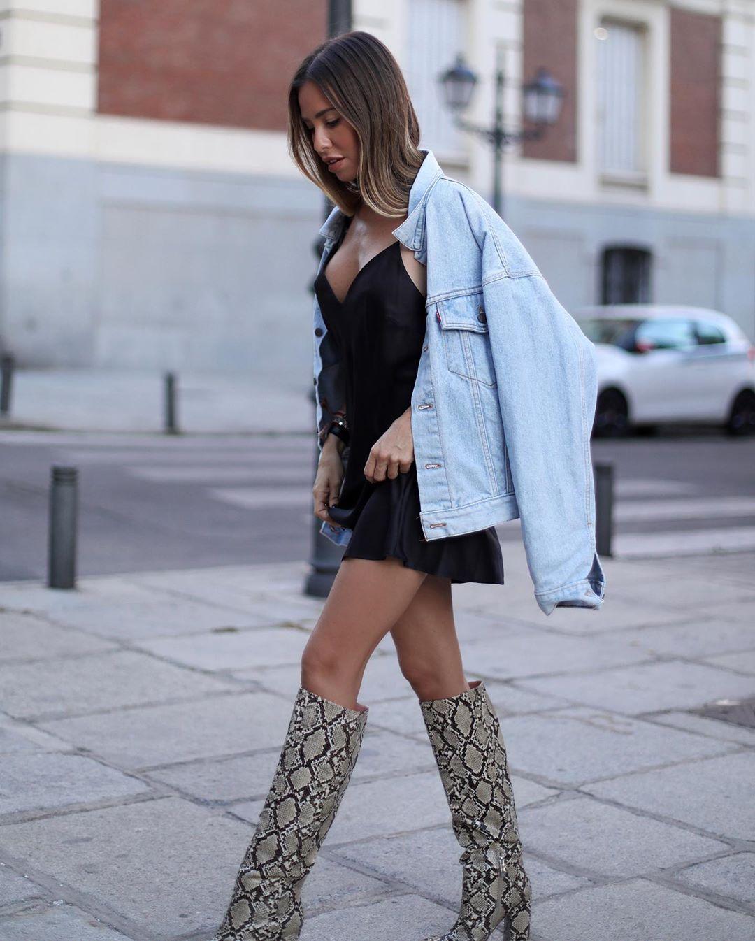 heeled boots and animal print de Zara sur martacarriedo