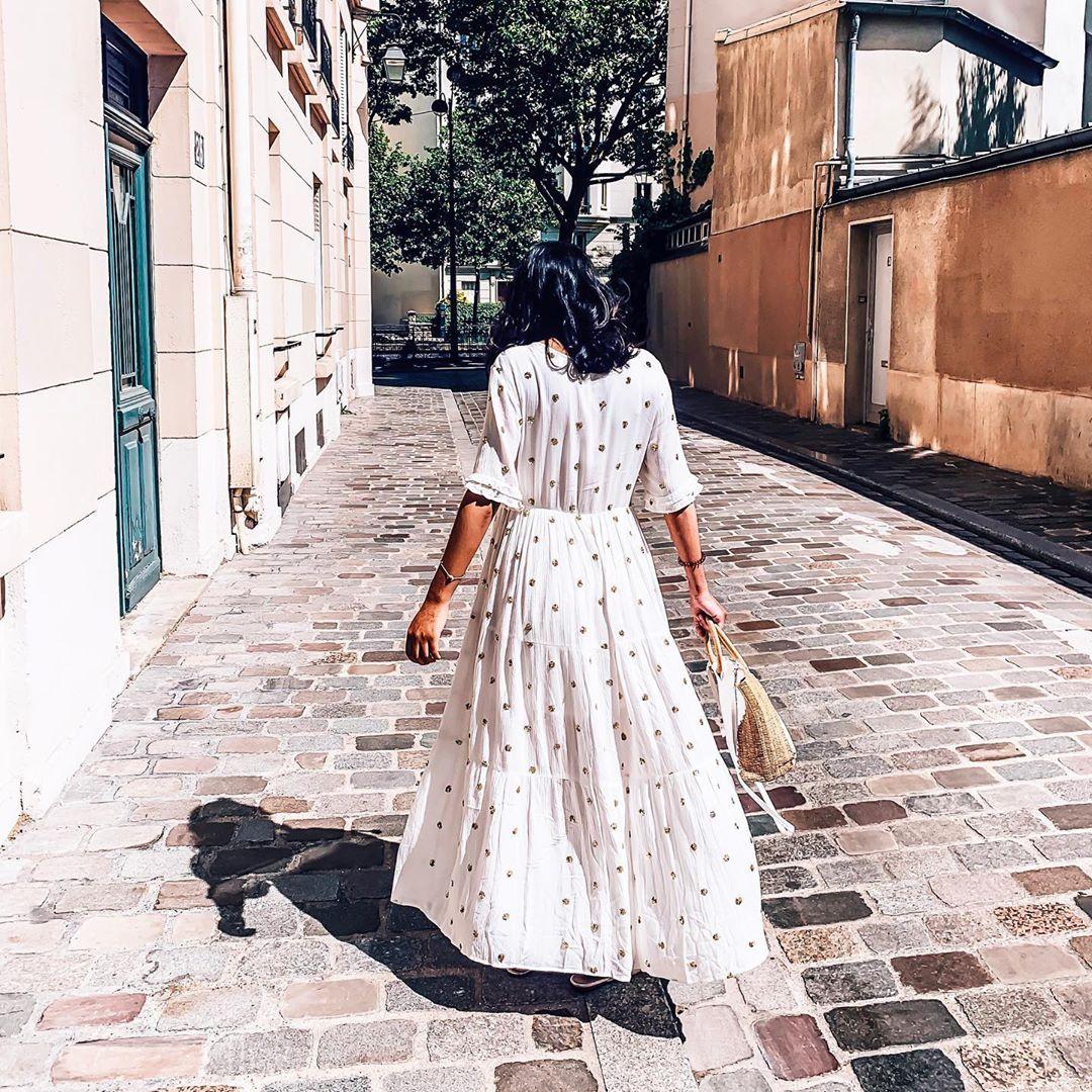 robe kaki sequins de Les Bourgeoises sur benjiwears