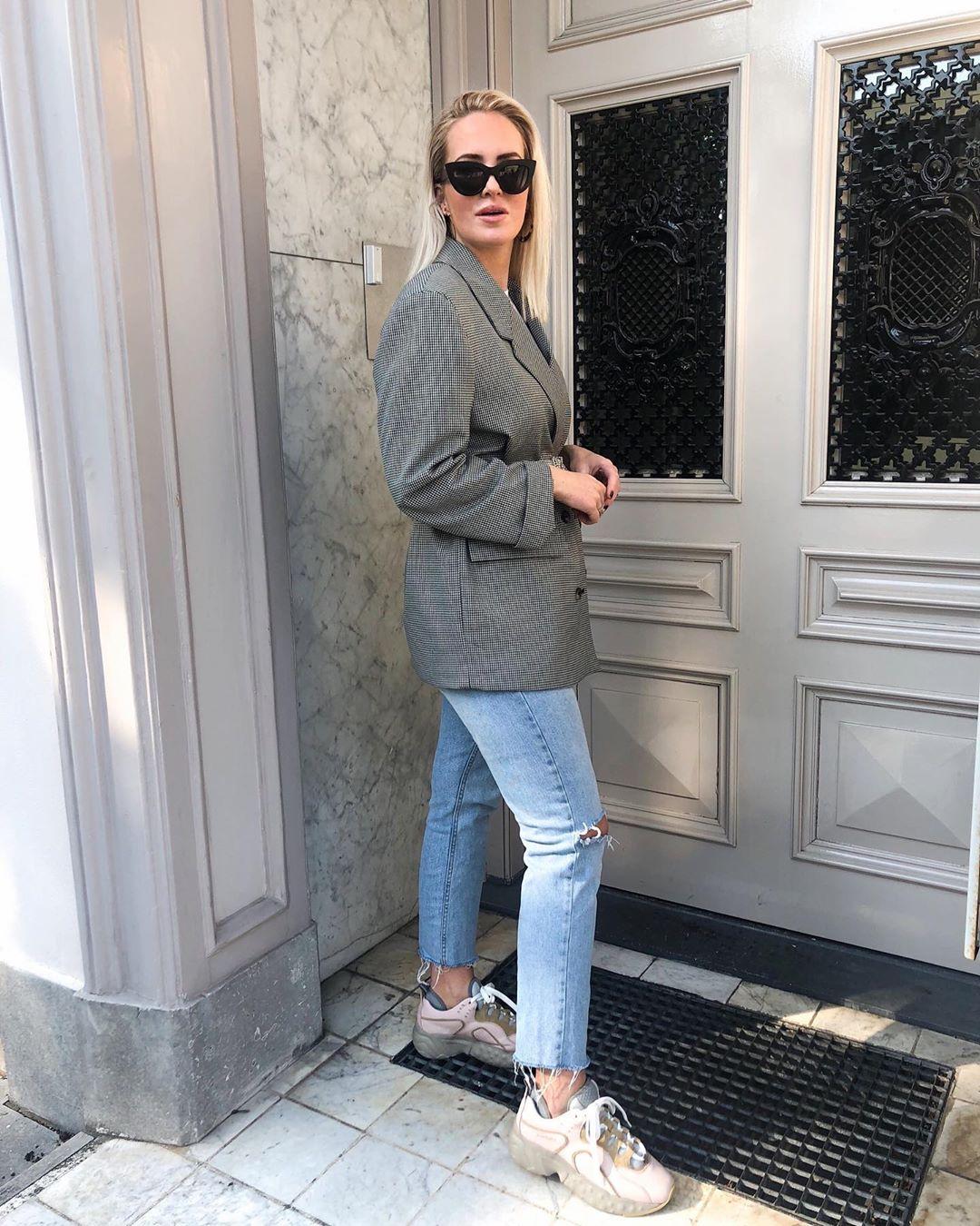 plaid jacket de Zara sur looksofkim