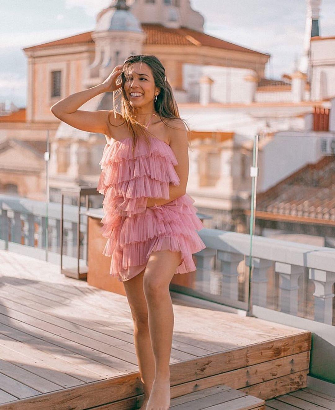 robe en tulle à volants édition limitée de Zara sur zara.outfits